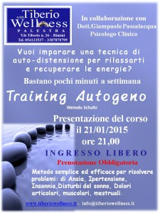 Tiberio Wellness training autogeno