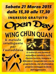 Locandina evento Wing Chun Quan