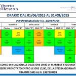 Orario estate palestra Tiberio Wellness di Rimini