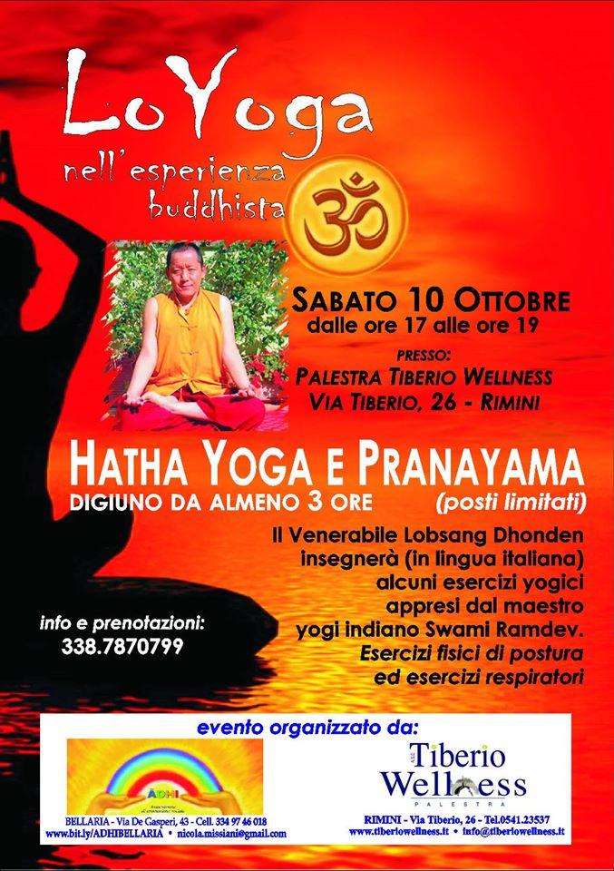 Lo yoga nell'esperianza buddhista a Rimini