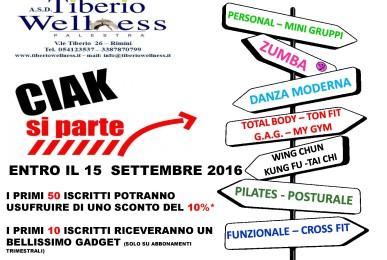 La palestra Tiberio Wellness di Rimini riparte con un nuovo anno di corsi.
