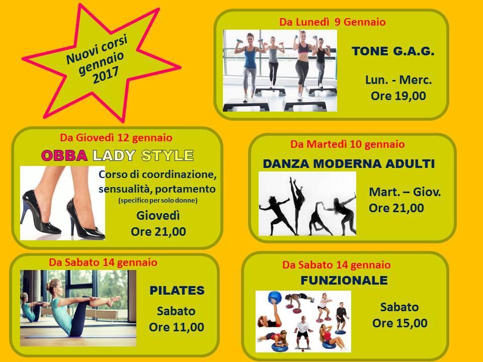 Nuovi corsi palestra Tiberio Wellness